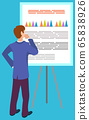 Business Education, Male Near Board with Graphs 65838926