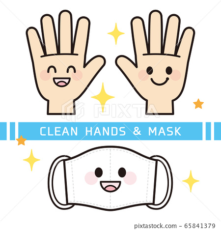 Beautiful hand and mask character 65841379