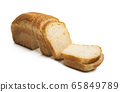 slices of bread Isolated 65849789