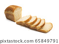 slices of bread Isolated 65849791