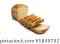 slices of bread Isolated 65849792