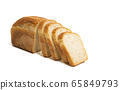 slices of bread Isolated 65849793