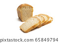 slices of bread Isolated 65849794