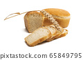 slices of bread Isolated 65849795