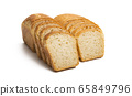 slices of bread Isolated 65849796