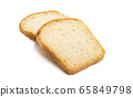 slices of bread Isolated 65849798