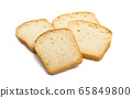 slices of bread Isolated 65849800