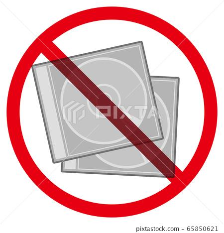 CD盒和禁令標誌 65850621