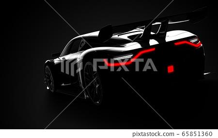 Black modern sport car 65851360