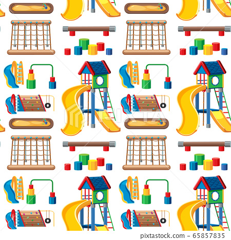 Set of stationary tools and school seamless 65857835
