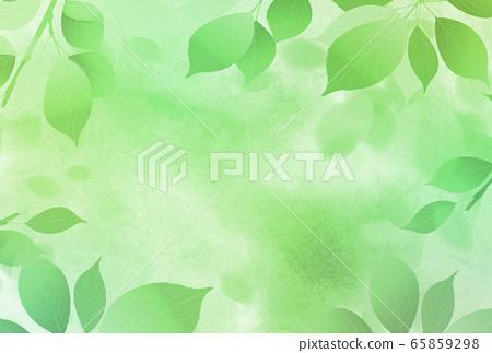 잎 수채화 여름 안부 배경 65859298