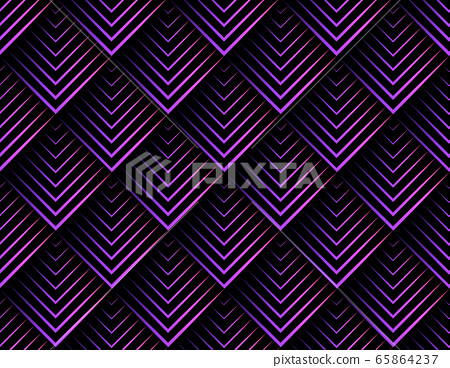 Seamless pattern with abstract sharp shape 65864237