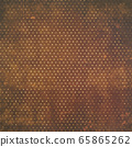 Background material series --- Grunge brown / white dot pattern 65865262