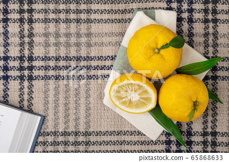 fresh fruit concept. close up of lemons and citrons 112 65868633