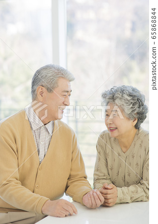 Happy senior life concept. Healthy activities in daily life of senior couple 196 65868844