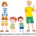 家庭夏季家庭 65869130