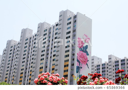 Rose painting, apartment 65869366