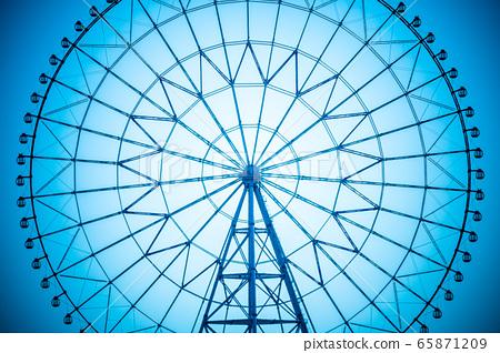 葛西臨海公園的摩天輪,背光剪影 65871209
