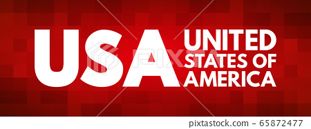 USA - United States of America acronym 65872477