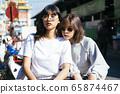 Thai girls at the market. 65874467