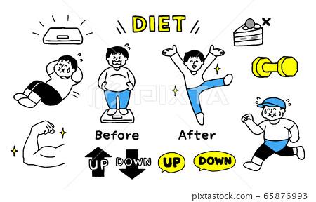 다이어트에 힘 쓰는 남성 세트 (간단) 65876993
