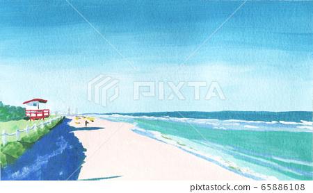 海外海滩 65886108