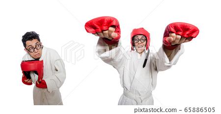 Man boxer isolated on white 65886505