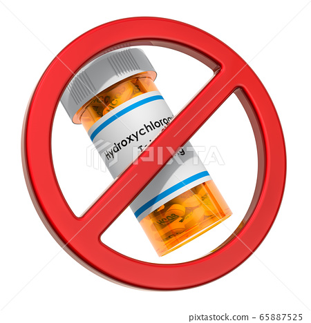 Hydroxychloroquine prohibition. Sign forbidden 65887525