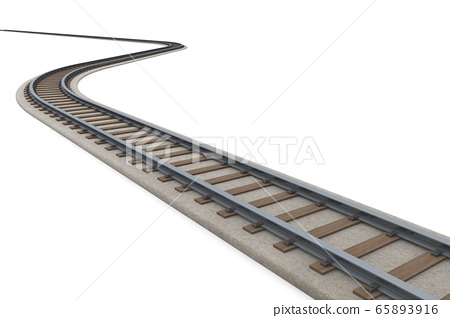 Winding track Follow the track. 3D illustration 65893916