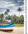 Fishing boats near the village of Kolva, pulled 65895569