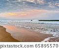 India, Goa. Early morning on the beach Colva. 65895570