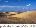 Sunset in the Sahara. 65898839