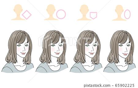 臉型髮型 65902225