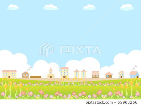 꽃 거리 풍경 65903266
