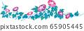 夏天牵牛花花卉装饰矢量插画 65905445