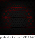 Black triangle background with red light. 65911347