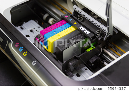 An ink cartridge or inkjet cartridge is a component of an inkjet printer that contains the ink four color 65924337