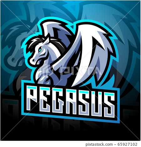 Pegasus esport mascot logo design 65927102