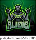 Alien esport mascot logo design 65927105