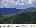 積嶽山到富士山[箱根]殘留雪的山 65928331