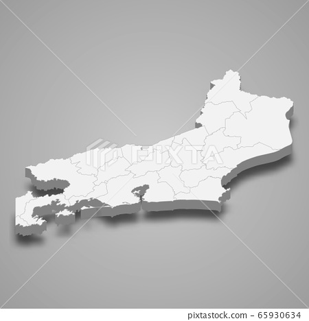 3d map state of Brazil Template for your design 65930634