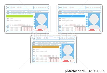 Illustration of driver's license surface, beginner / general, good driver 65931553