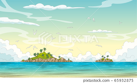 Summer Landscape With Islands 65932875