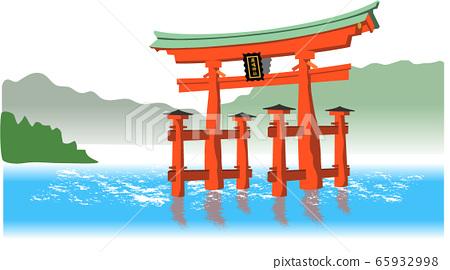 Hiroshima sightseeing Miyajima Itsukushima Shrine color 65932998