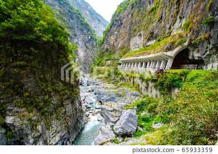 台湾花莲太鲁阁峡谷Taiwan hualien taroko valley landscape 65933359