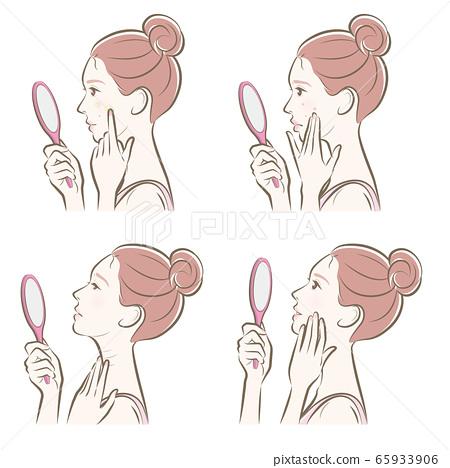 做護膚的婦女的例證 65933906