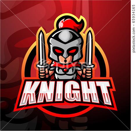 Knight mascot esport logo design 65934165