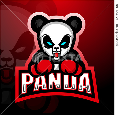 Boxing Panda mascot esport logo design 65934166