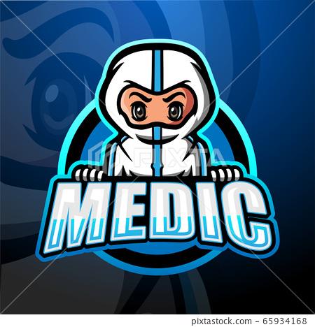 Medical esport mascot logo design 65934168