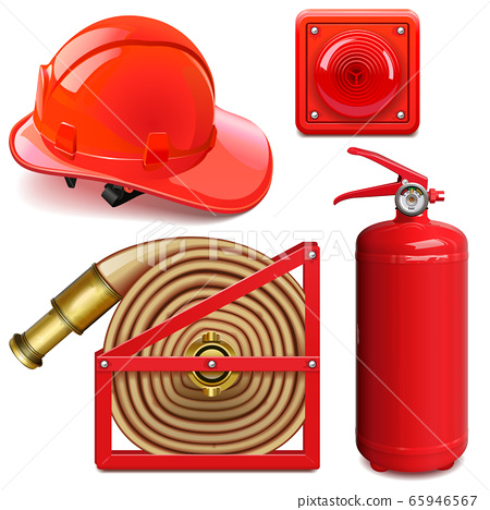 Vector Firefighter Accessories 65946567